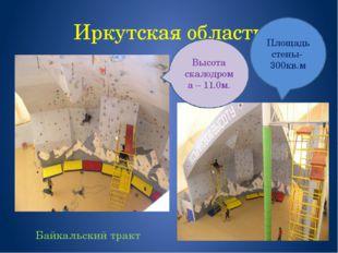 Иркутская область Байкальский тракт Площадь стены- 300кв.м Высота скалодрома