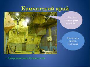 Камчатский край г. Петропавловск Камчатский Площадь стены- 120кв.м Высота ска