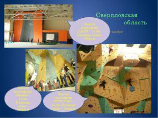 г. Екатеринбург Высота скалодрома УрГЭУ – 11.0м. Площадь стены-130кв.м Высот