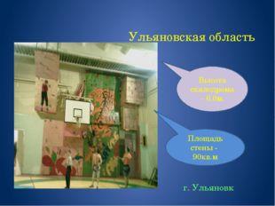 Ульяновская область г. Ульяновк Площадь стены - 90кв.м Высота скалодрома – 6.