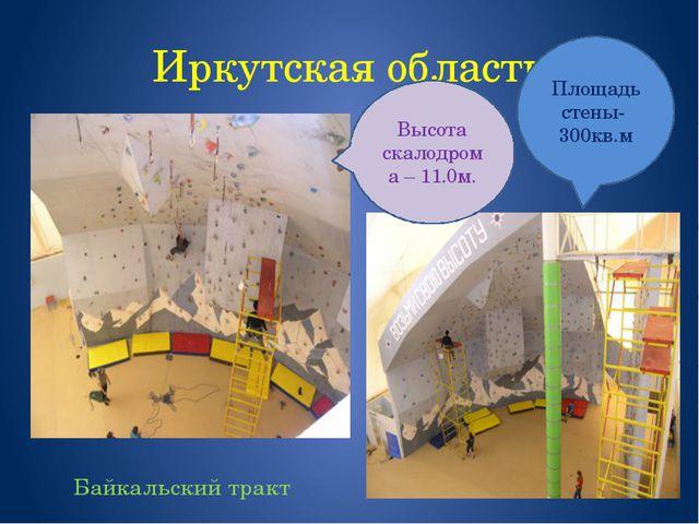 Иркутская область Байкальский тракт Площадь стены- 300кв.м Высота скалодрома...