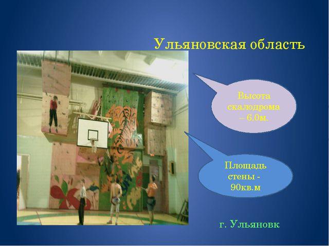 Ульяновская область г. Ульяновк Площадь стены - 90кв.м Высота скалодрома – 6....