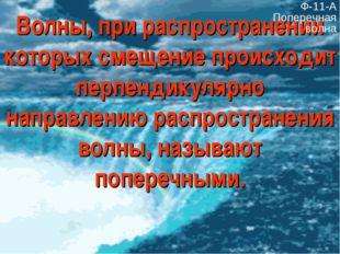 Волны, при распространении которых смещение происходит перпендикулярно направ