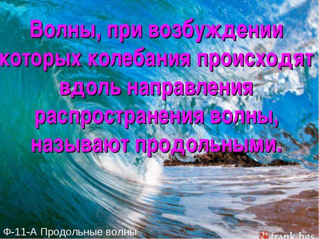 Волны, при возбуждении которых колебания происходят вдоль направления распрос...