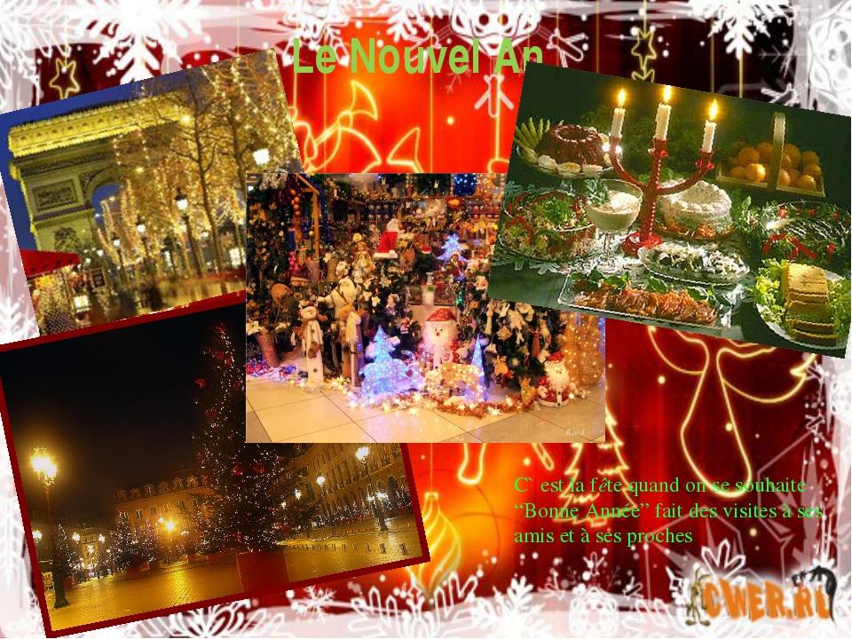 """Le Nouvel An C` est la fête quand on se souhaite """"Bonne Année"""" fait des visit..."""