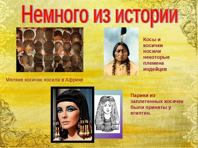 Мелкие косички носили в Африке Косы и косички носили некоторые племена индейц...