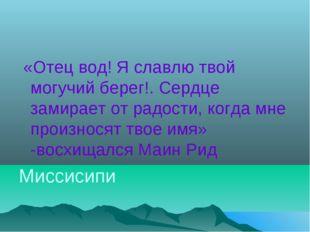 «Отец вод! Я славлю твой могучий берег!. Сердце замирает от радости, когда м