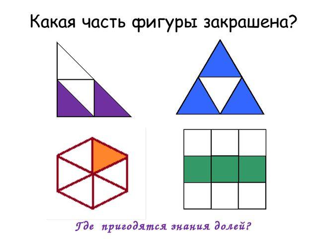 , , , , , , , , . Где пригодятся знания долей?