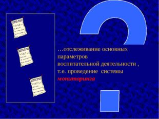…отслеживание основных параметров воспитательной деятельности , т.е. проведен