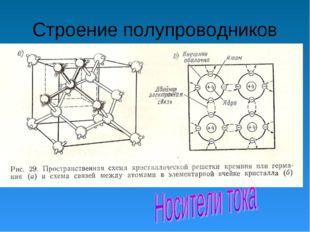 Строение полупроводников