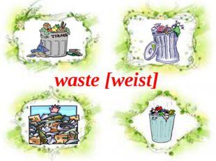 waste [weist]