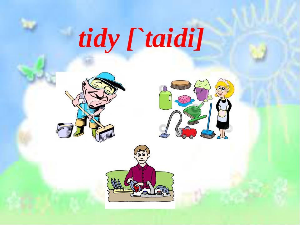 tidy [`taidi]