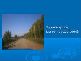 Я узнаю дорогу. Мы точно едем домой.
