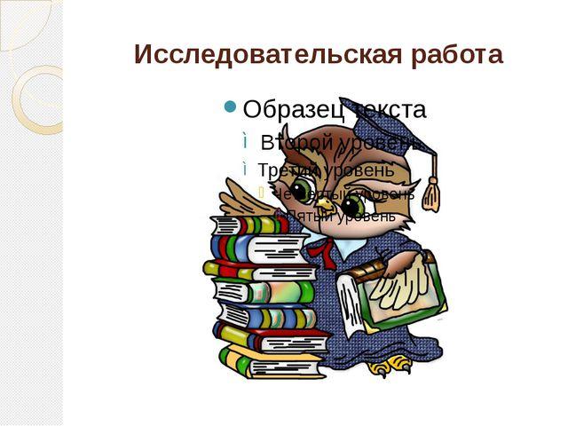 Исследовательская работа