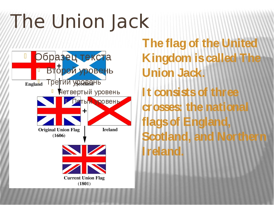 The Union Jack The flag of the United Kingdom is called The Union Jack. It co...