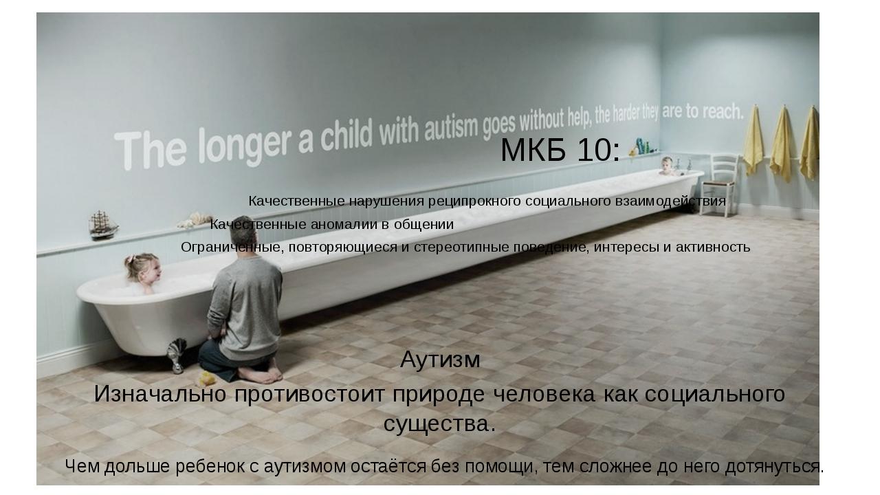 Консультативная встреча Люди с аутизмом… Еськов А.А. МКБ 10: Качественные нар...