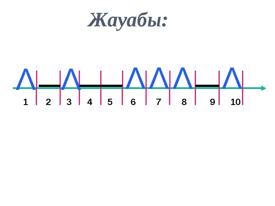 1 2 3 4 5 6 7 8 9 10 Λ Λ Λ Λ Λ Λ Жауабы: