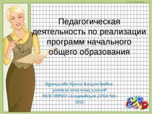 Педагогическая деятельность по реализации программ начального общего образова