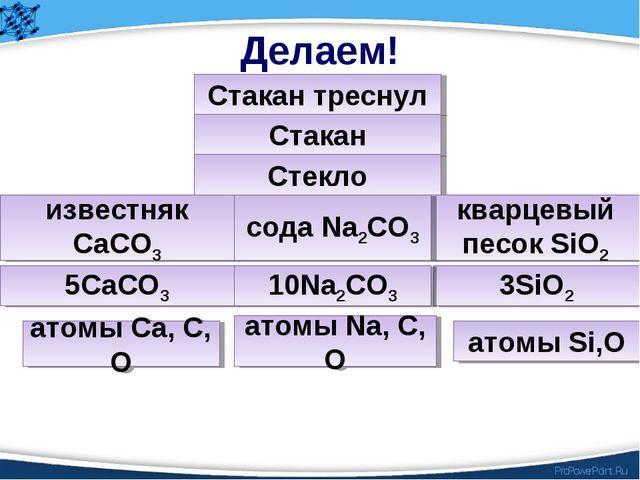 Делаем! Стакан треснул Стакан Стекло кварцевый песок SiO2 известняк СаСО3 сод...