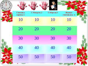 Генетика тарихы 1Г.Мендель 2Т.Морган 3Жыныс генетикасы 4 10101010 2020