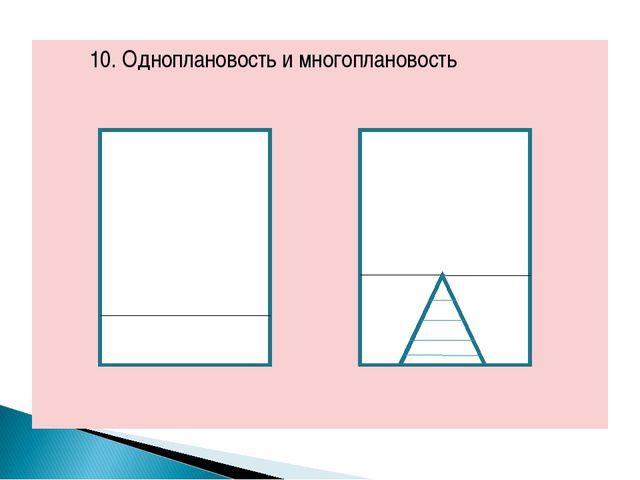 10. Одноплановость и многоплановость