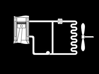 Układ chłodzenia silnika spalinowego.svg