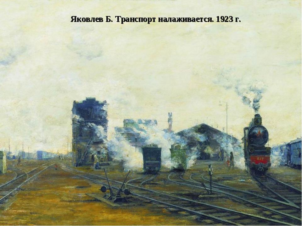 Яковлев Б. Транспорт налаживается. 1923 г.