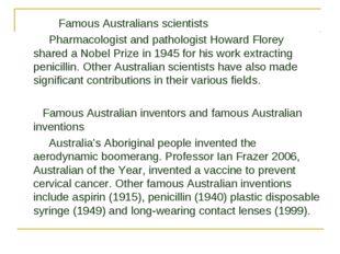 Famous Australians scientists Pharmacologist and pathologist Howard Florey s