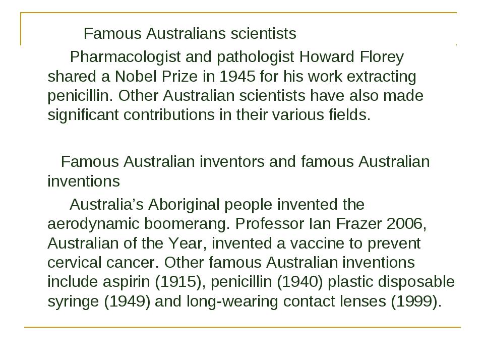 Famous Australians scientists Pharmacologist and pathologist Howard Florey s...