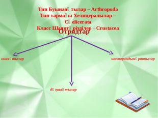 Тип Буынаяқтылар – Arthropoda Тип тармағы Хелицералылар – Сһеlicerata Класс Ш