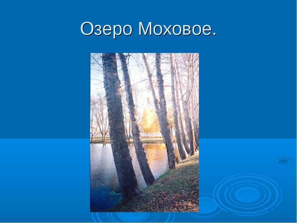Озеро Моховое.