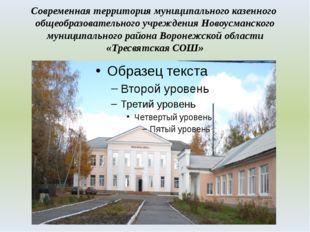 Современная территория муниципального казенного общеобразовательного учрежден