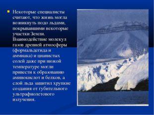 Некоторые специалисты считают, что жизнь могла возникнуть подо льдами, покрыв