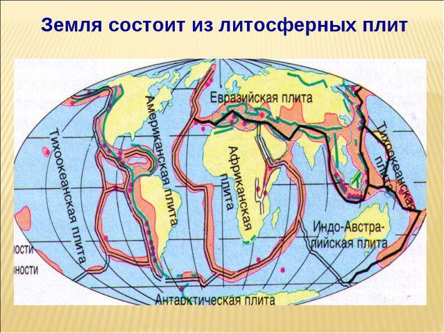Земля состоит из литосферных плит