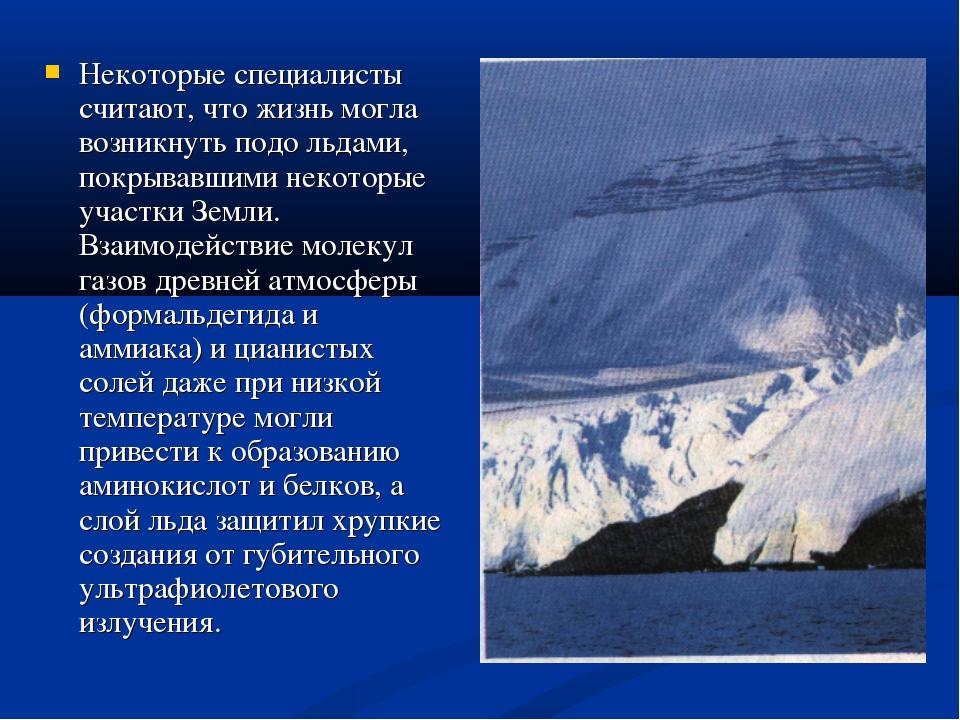 Некоторые специалисты считают, что жизнь могла возникнуть подо льдами, покрыв...