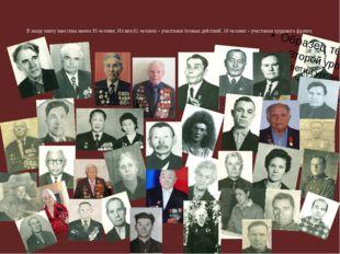 В нашу книгу занесены имена 95 человек. Из них 61 человек – участники боевых