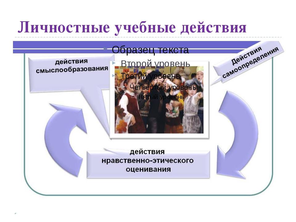 Личностные учебные действия