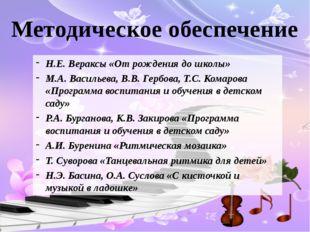 Методическое обеспечение Н.Е. Вераксы «От рождения до школы» М.А. Васильева,