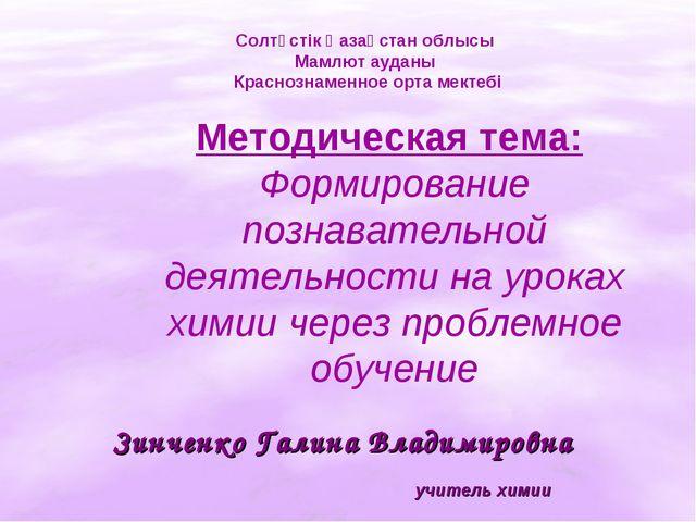 Зинченко Галина Владимировна Солтүстік Қазақстан облысы Мамлют ауданы Красноз...