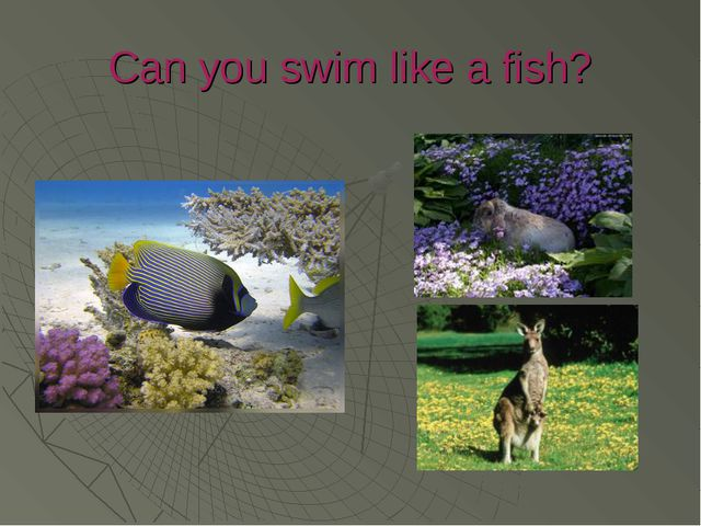 Can you swim like a fish?