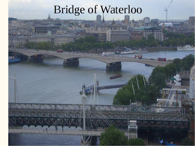 Bridge of Waterloo