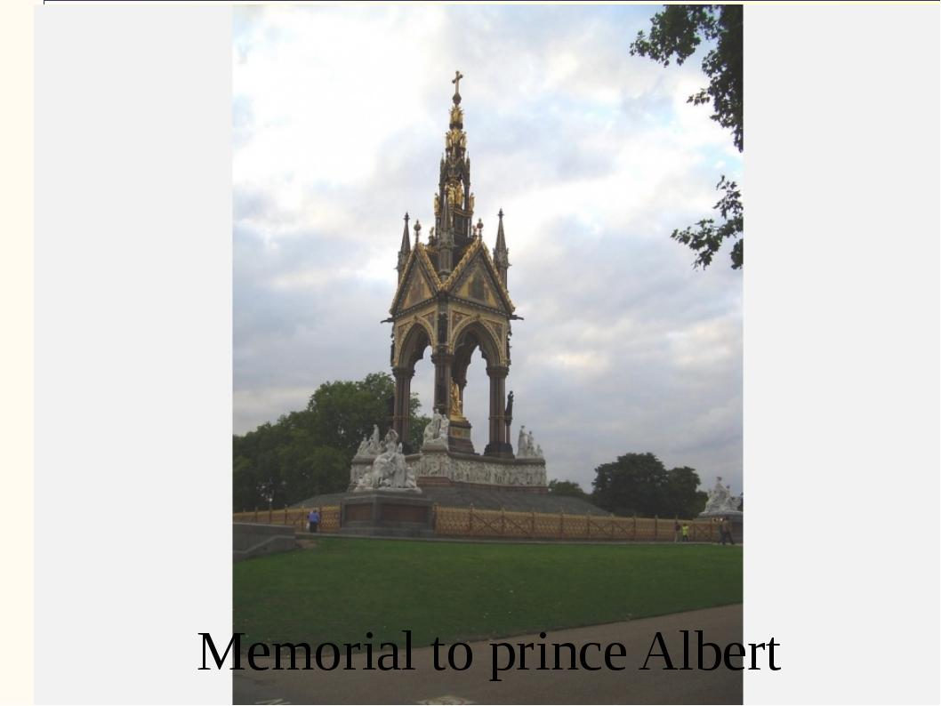 Memorial to prince Albert