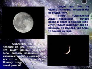 Среди нас нет ни одного человека, который бы не видел Луну. Много тысячелет