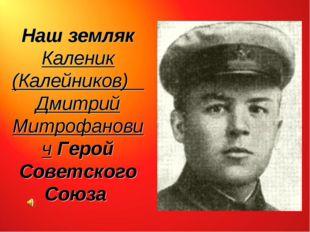Наш земляк Каленик (Калейников) Дмитрий Митрофанович Герой Советского Союза