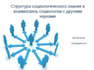 Структура социологического знания и взаимосвязь социологии с другими науками