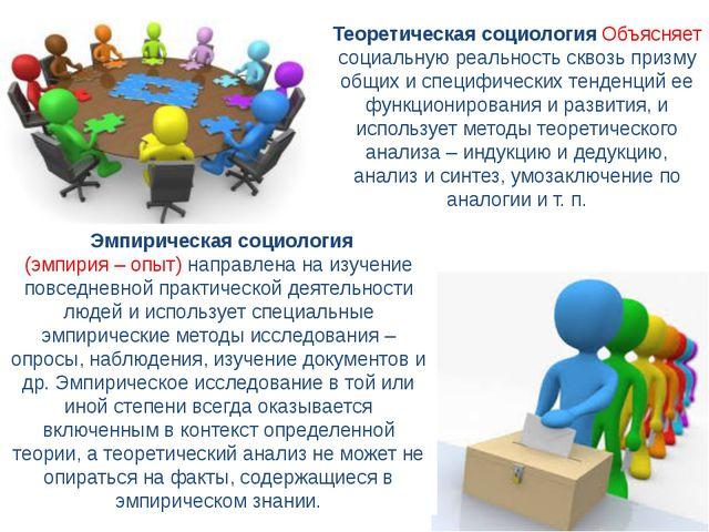 Эмпирическая социология (эмпирия – опыт) направлена на изучение повседневн...