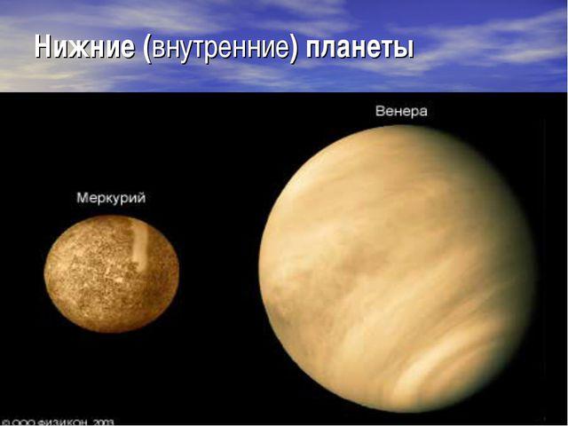 Нижние (внутренние) планеты