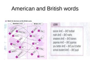 American and British words