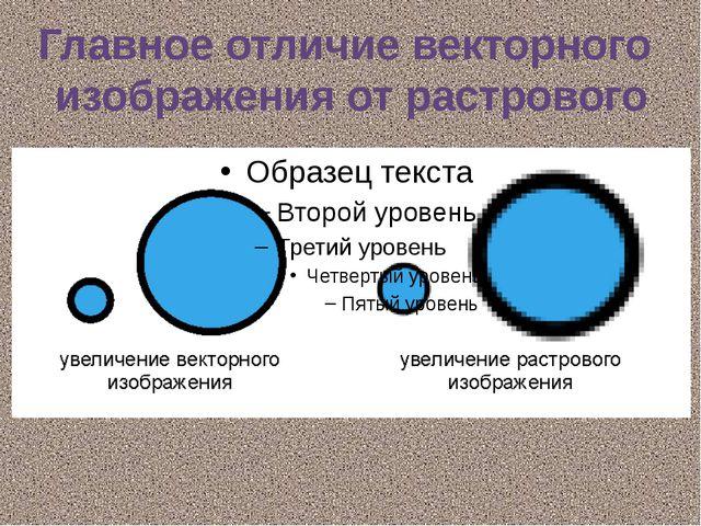 Главное отличие векторного изображения от растрового
