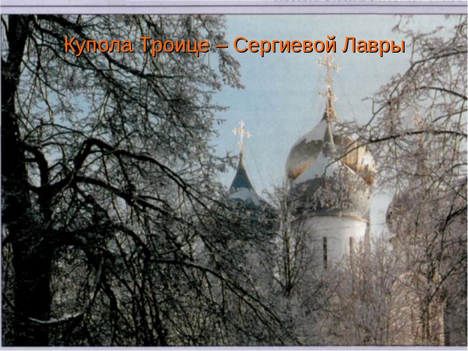 Купола Троице – Сергиевой Лавры